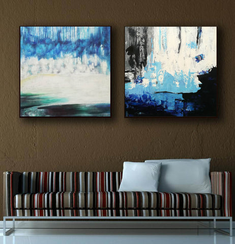 Image of Abstract modern art paintings   Abstract oil art paintings F130-9