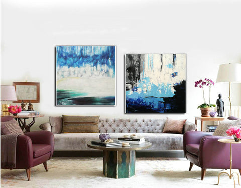 Image of Abstract modern art paintings   Abstract oil art paintings F130-1