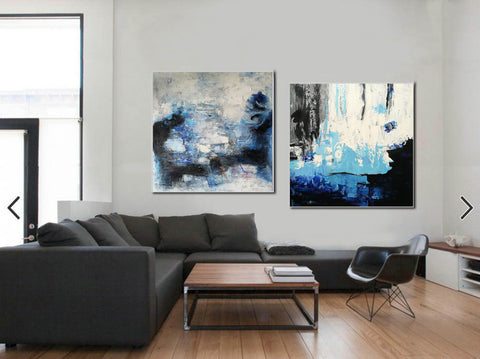 Abstract painting description  Abstract paintings with acrylic F128-10
