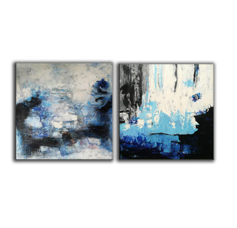 Abstract painting description  Abstract paintings with acrylic F128-4