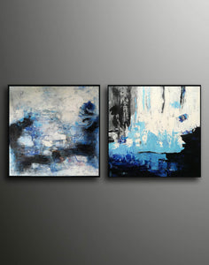 Abstract painting description  Abstract paintings with acrylic F128-8