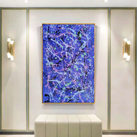 Image of Abstract wall painting | Types of abstract art | Best abstract paintings F169-2