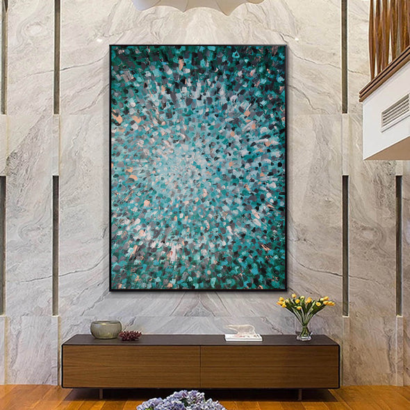 Abstractionist painters  Oil on canvas abstract art  Original modern abstract painting F144-1