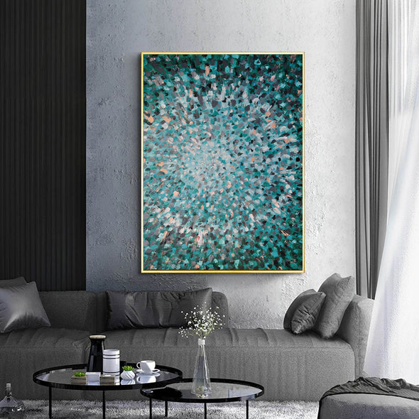 Abstractionist painters  Oil on canvas abstract art  Original modern abstract painting F144-8