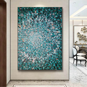 Abstractionist painters  Oil on canvas abstract art  Original modern abstract painting F144-9