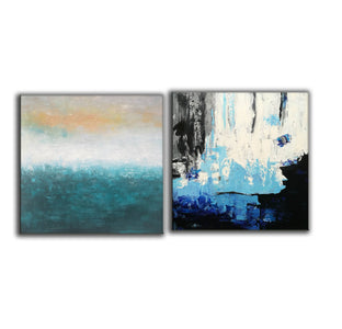 Abstrak painting  Paint modern abstract art F129-4