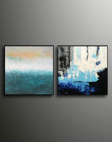 Image of Abstrak painting  Paint modern abstract art F129-9