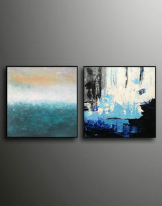Abstrak painting  Paint modern abstract art F129-9