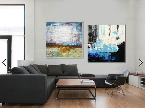 Acrylic abstract canvas  Abstract contemporary art paintings F131-10