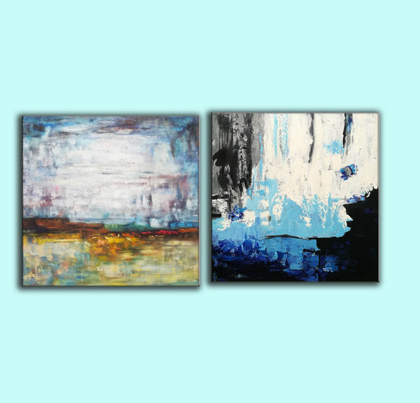 Acrylic abstract canvas  Abstract contemporary art paintings F131-5