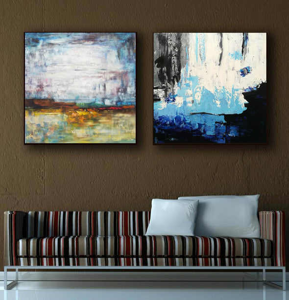 Acrylic abstract canvas  Abstract contemporary art paintings F131-1