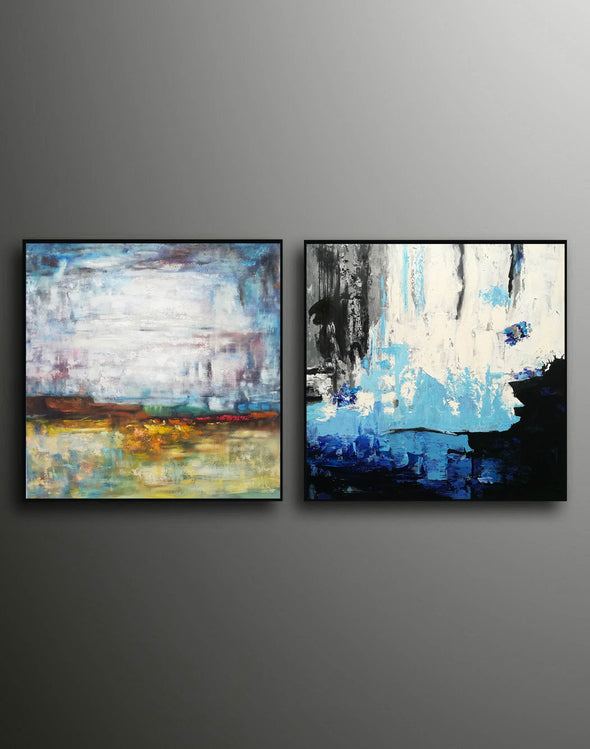 Acrylic abstract canvas  Abstract contemporary art paintings F131-9