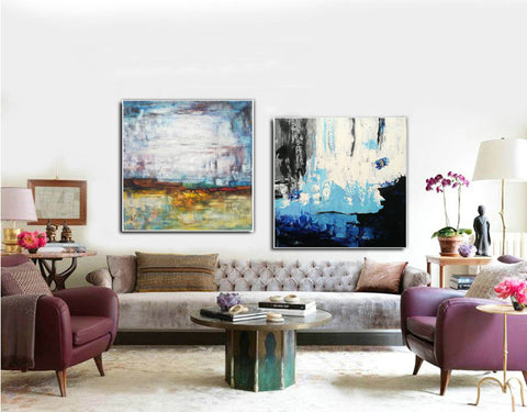 Acrylic abstract canvas  Abstract contemporary art paintings F131-2