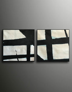 Black abstract art  Black white abstract art F111-9
