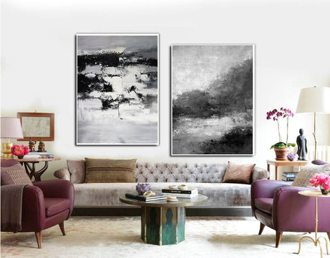 Image of Black and white abstract art | Black and white artwork F80-10