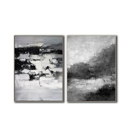 Image of Black and white abstract art | Black and white artwork F80-8