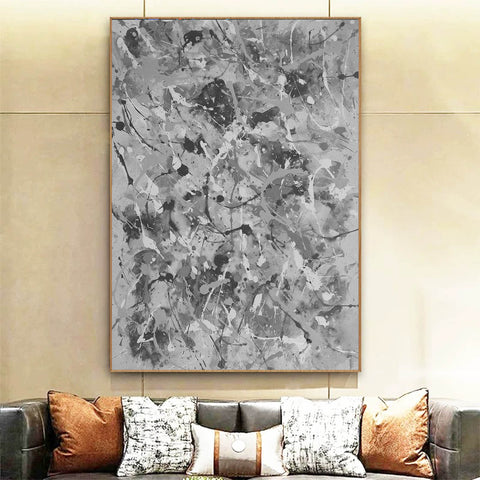 Image of Black and white abstract artwork | Black & white paintings contemporary F165-1