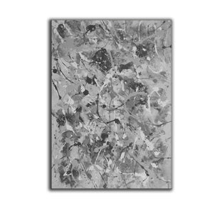 Black and white abstract artwork | Black & white paintings contemporary F165-5