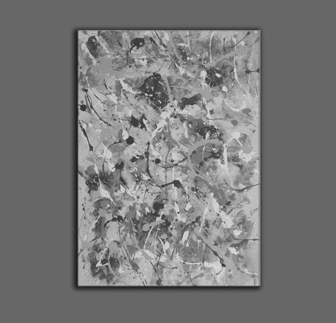 Image of Black and white abstract artwork | Black & white paintings contemporary F165-6