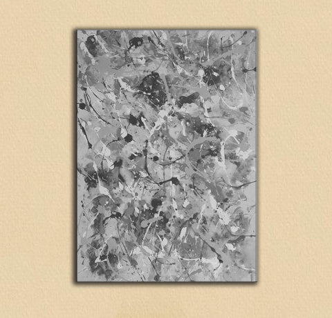 Image of Black and white abstract artwork | Black & white paintings contemporary F165-7