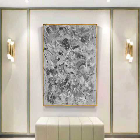 Image of Black and white abstract artwork | Black & white paintings contemporary F165-9