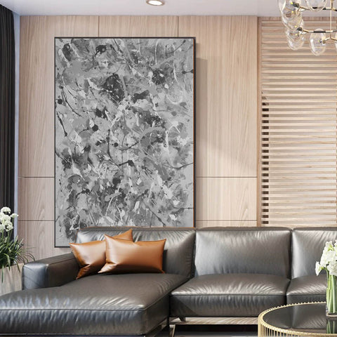 Image of Black and white abstract artwork | Black & white paintings contemporary F165-10