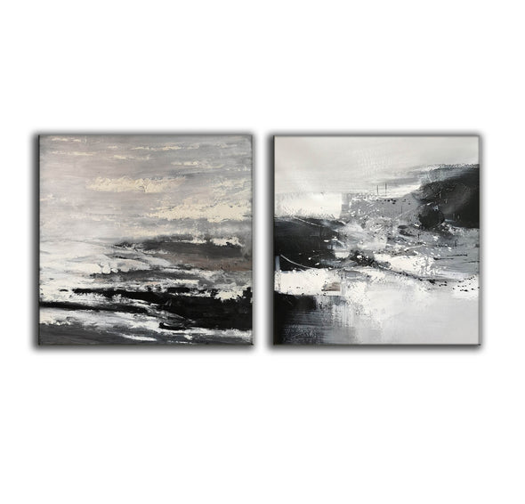 Black and white artwork for living room | Black and white art abstract F87-4
