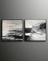Black and white artwork for living room | Black and white art abstract F87-8