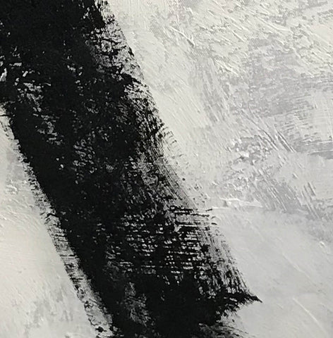 Black white gray paintings | Abstract black art F104-4