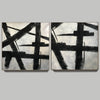 Black white gray paintings | Abstract black art F104-8