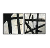 Black and white art paintings  White abstract painting F114-2