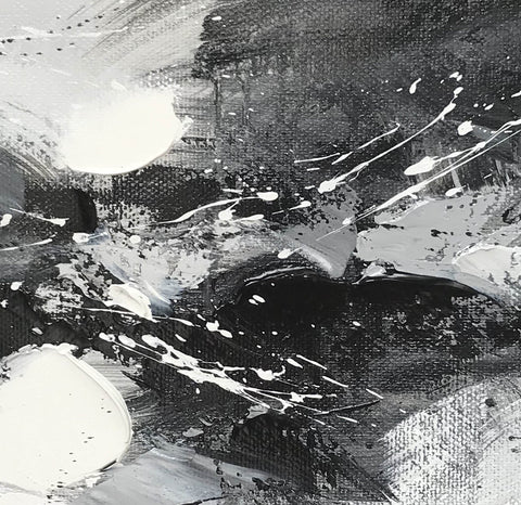 Image of Black and white art abstract | Black and white abstract artwork F93-8