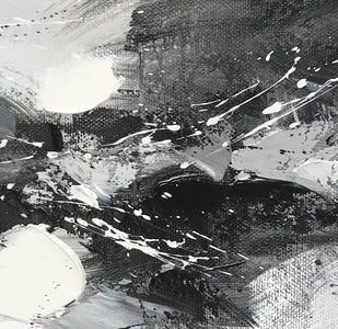 Black and white art abstract | Black and white abstract artwork F93-8
