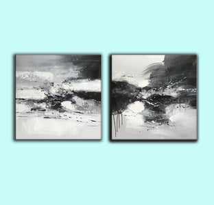 Black and white art abstract | Black and white abstract artwork F93-5