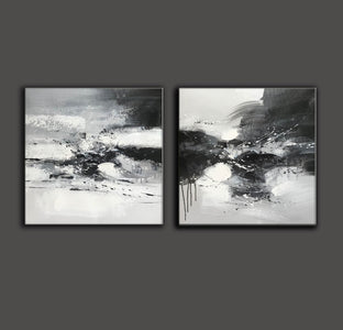 Black and white art abstract | Black and white abstract artwork F93-7