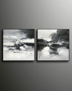 Black and white art abstract | Black and white abstract artwork F93-9