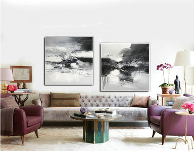 Black and white art abstract | Black and white abstract artwork F93-10