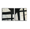 Black and white canvas art  White abstract art F110-8