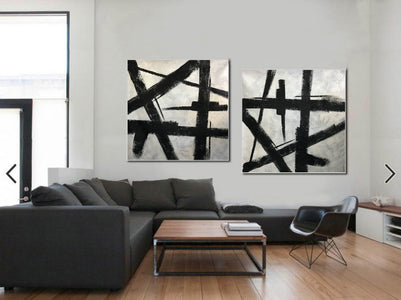 Black and grey paintings | Black and white paintings F105-10