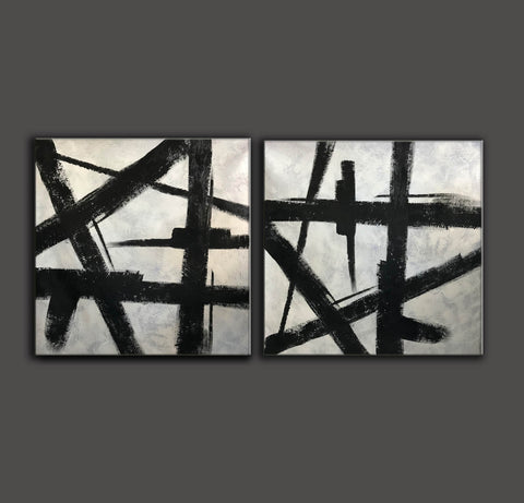 Image of Black and grey paintings | Black and white paintings F105-7