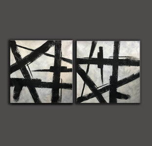 Black and grey paintings | Black and white paintings F105-7