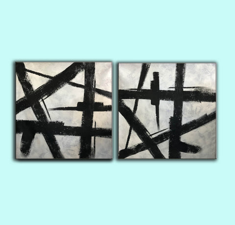 Image of Black and grey paintings | Black and white paintings F105-8