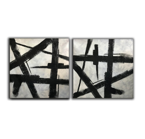 Image of Black and grey paintings | Black and white paintings F105-9