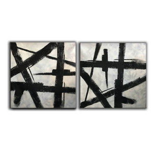 Black and grey paintings | Black and white paintings F105-9