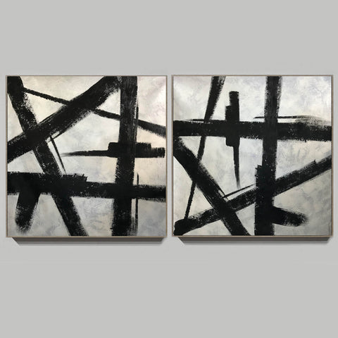 Image of Black and grey paintings | Black and white paintings F105-6