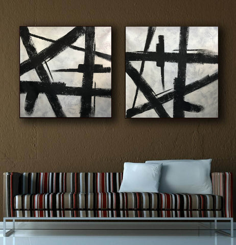 Image of Black and grey paintings | Black and white paintings F105-2