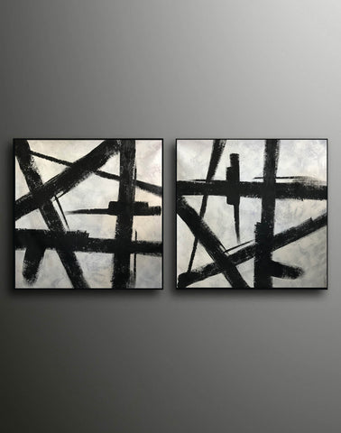 Image of Black and grey paintings | Black and white paintings F105-5
