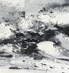 Large black and white abstract art | Black and white modern paintings F84-4