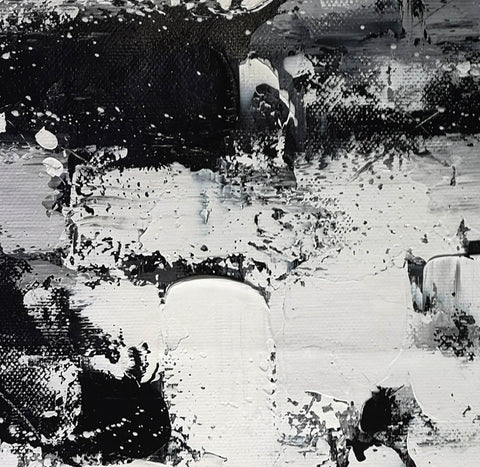 Image of Black and white modern paintings | Black and white modern art paintings F78-7