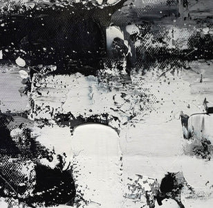 Black and white modern paintings | Black and white modern art paintings F78-7